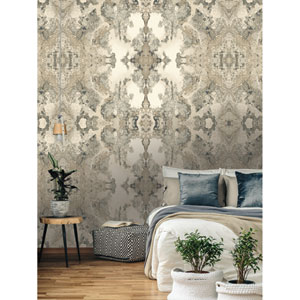 Candice Olson Botanical Dreams Gray Inner Beauty Wallpaper