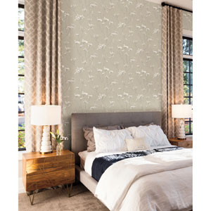 Candice Olson Botanical Dreams Tan Enchanted Wallpaper