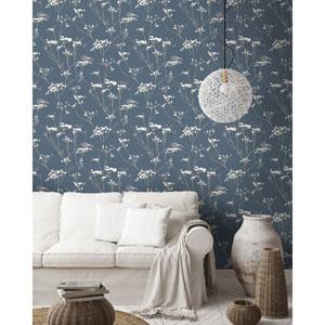 Candice Olson Botanical Dreams Blue Enchanted Wallpaper