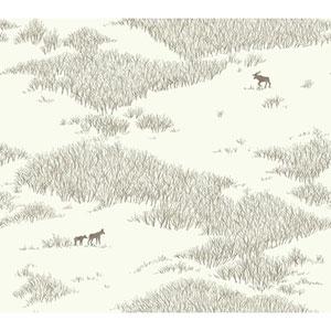 Norlander Off White Wild Tundra Wallpaper