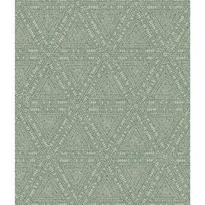 Norlander Green Norse Tribal Wallpaper