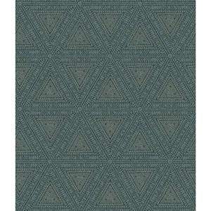 Norlander Blue Norse Tribal Wallpaper