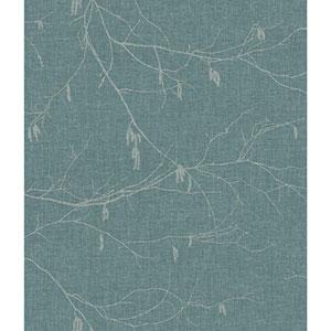 Norlander Blue Winter Branches Wallpaper