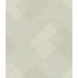 Norlander Beige Scandia Plaid Wallpaper