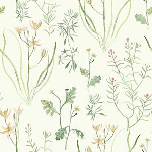 Norlander Off White Alpine Botanical Wallpaper