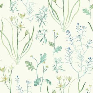 Norlander Off White Alpine Botanical Wallpaper