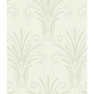 Norlander Off White Candlewick Wallpaper