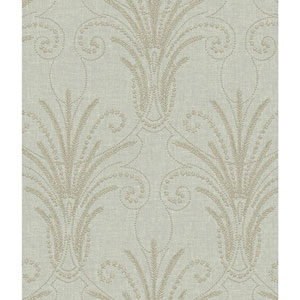Norlander Black Candlewick Wallpaper