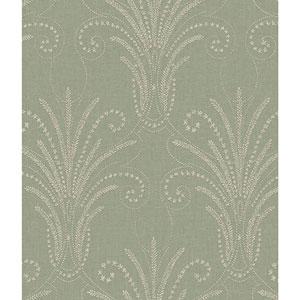 Norlander Green Candlewick Wallpaper