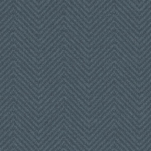 Norlander Blue Cozy Chevron Wallpaper