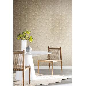 Antonina Vella Elegant Earth Gold Squareburst Geometric Wallpaper