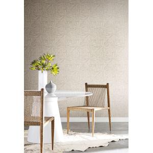 Antonina Vella Elegant Earth Light Glint Squareburst Geometric Wallpaper