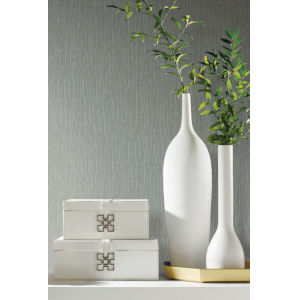 Antonina Vella Elegant Earth Sage Woodland Twigs Botanical Wallpaper
