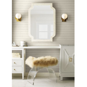Antonina Vella Elegant Earth White Platinum Dunes Sand Prints Wallpaper