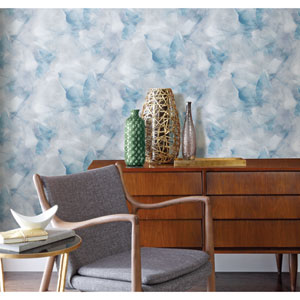 Watercolor Silk Blue Peel and Stick Wallpaper