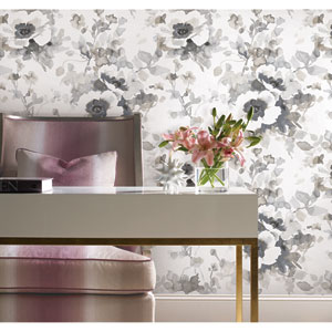 Garden Anemone Neutral Peel and Stick Wallpaper