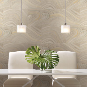 Simply Candice Gray Onyx Peel and Stick Wallpaper