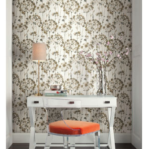Simply Candice Neutral Flourish Peel and Stick Wallpaper