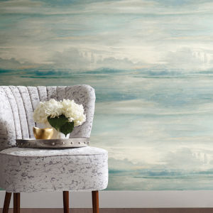 Simply Candice Blue Soothing Mists Scenic Peel and Stick Wallpaper