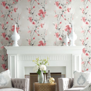 Simply Candice Red Charm Peel and Stick Wallpaper