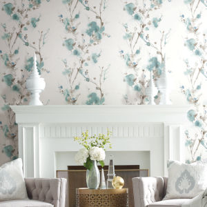 Simply Candice Teal Charm Peel and Stick Wallpaper