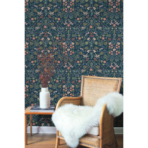 Rifle Paper Co. Navy Wildwood Wallpaper