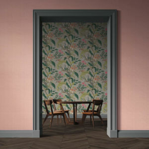 Rifle Paper Co. Light Pink Palette Grasscloth Wallpaper