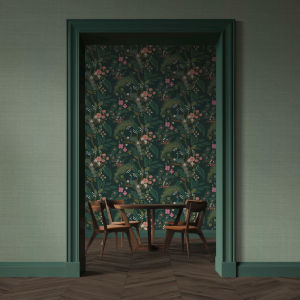 Rifle Paper Co. Sage Palette Grasscloth Wallpaper