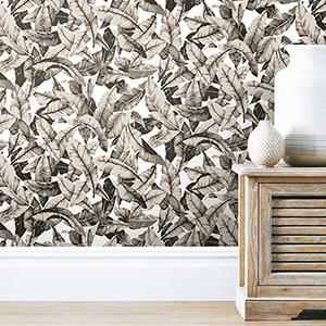 Tan Palm Peel and Stick Wallpaper