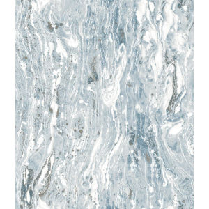 Blue Marble Seas Blue Peel and Stick Wallpaper