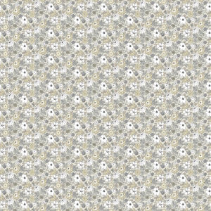 Floral Ditzy Vine Gray Peel and Stick Wallpaper