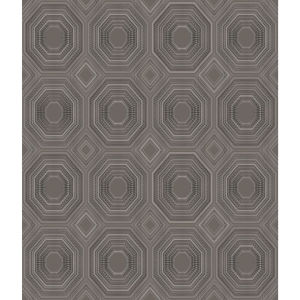 Bees Knees Dark Gray Peel and Stick Wallpaper