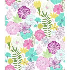 Perennial Blooms Purple Peel and Stick Wallpaper