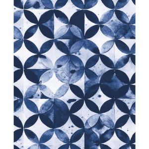 Paul Brent Moroccan Blue Peel and Stick Wallpaper