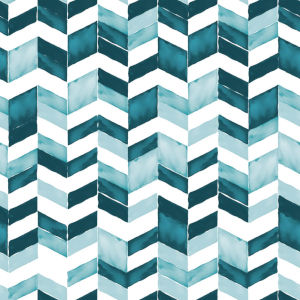 Paul Brent Watercolor Chevron Teal And White Peel And Stick Wallpaper