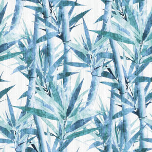 Lucky Bamboo Blue And White Peel and Stick Wallpaper