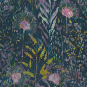 Dandelion Pink And Blue Peel and Stick Wallpaper