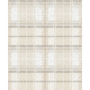 Tweed Plaid Beige Peel And Stick Wallpaper