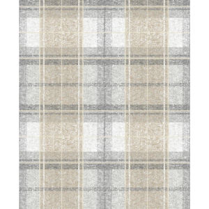 Tweed Plaid Gray Peel And Stick Wallpaper