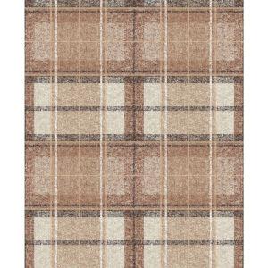 Tweed Plaid Brown Peel And Stick Wallpaper