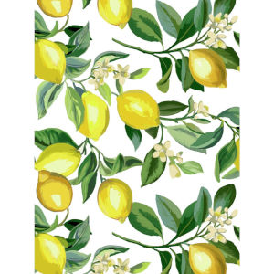 Lemon Zest White And Yellow Peel and Stick Wallpaper