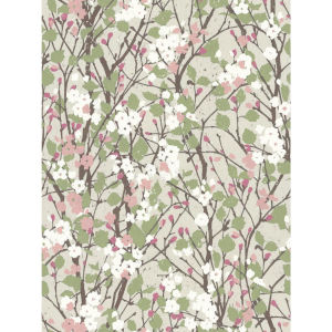 Willow Branch Beige, Green And Pink Peel And Stick Wallpaper