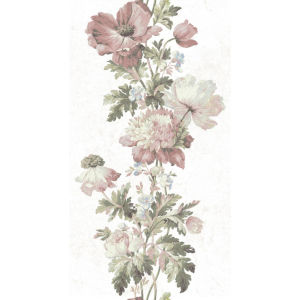 Vintage Pink And Green Peel And Stick Wallpaper