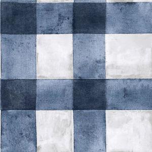 Buffalo Plaid Blue Peel And Stick Wallpaper