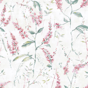 Floral Sprig Pink Peel And Stick Wallpaper