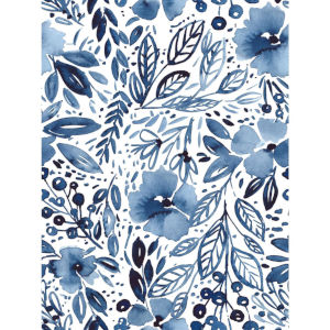 Clara Jean April Shower Blue And White Peel And Stick Wallpaper