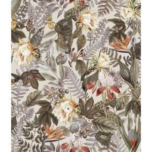Tropical Flower Beige Peel And Stick Wallpaper