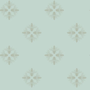Honey Bee Green Peel And Stick Wallpaper