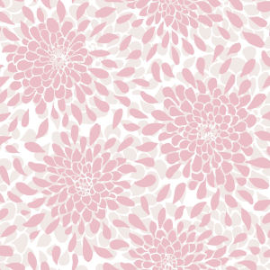 Toss The Bouquet Pink Peel And Stick Wallpaper