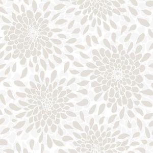 Toss The Bouquet Beige Peel And Stick Wallpaper
